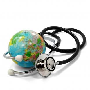 Erde und Stethoskop